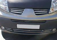 Renault Trafic 2001-2015 гг. Накладки на решетку бампера (6 шт, нерж)