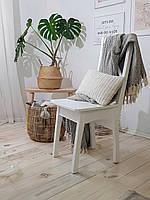 Стул белый деревянный для кафе, ресторана, кухни BioMebel (сосна)