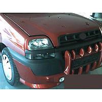 Fiat Doblo I 2001-2005 гг. Накладка на бампер Клыки (под покраску)