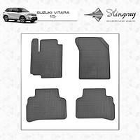 Suzuki Vitara 2015↗ гг. Резиновые коврики (4 шт, Stingray Premium)