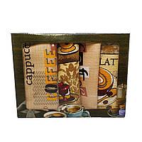 Набор вафельных полотенец для кухни Luxyart 35*70 см 4 шт Бежевый (L908)