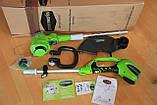 Садовый аккумуляторный триммер Greenworks  40 V модель 21302  с  АКБ 2 Ач и ЗУ, фото 5