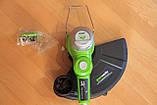 Садовый аккумуляторный триммер Greenworks  40 V модель 21302  с  АКБ 2 Ач и ЗУ, фото 6