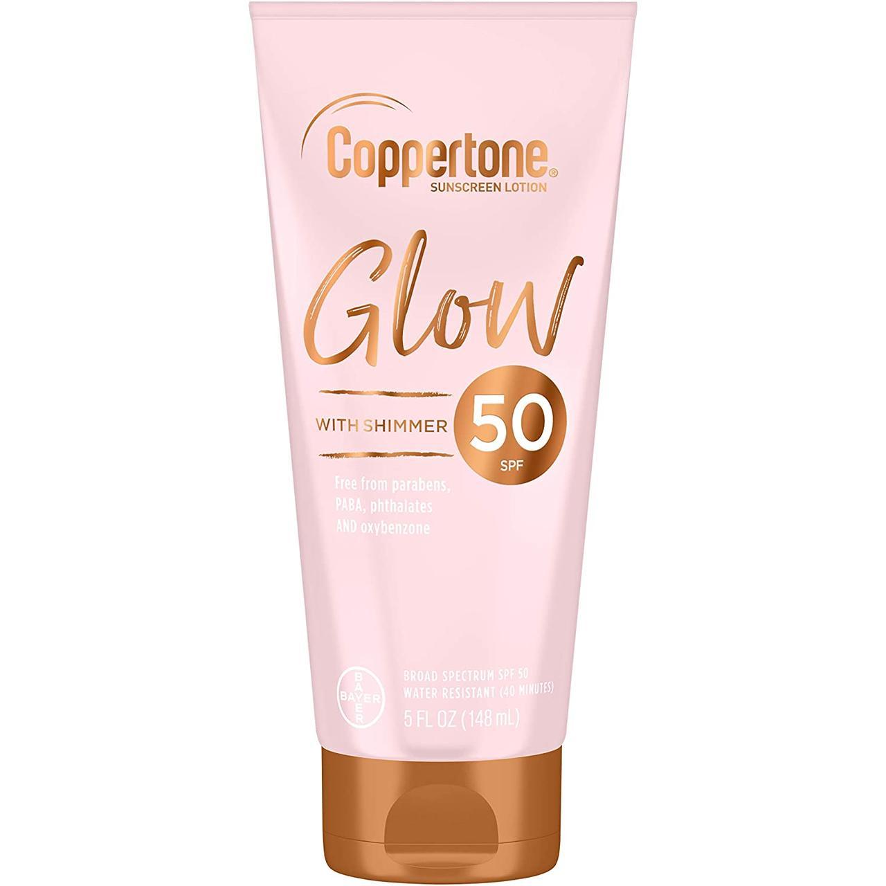 Cолнцезащитный лосьон для тела с шиммером Coppertone Glow Sunscreen Lotion Shimmer SPF 50
