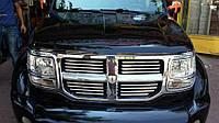 Dodge Nitro 2007↗ гг. Хром накладки на решетку (нерж)