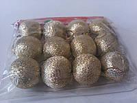 Набор к новому году шарики золотые