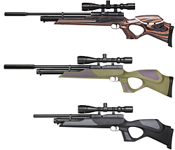 Пневматические винтовки для охоты Weihrauch HW 77, HW 97, HW 98