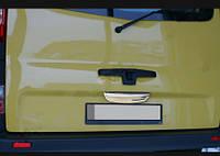 Nissan Primastar 2002-2014 гг. Хром планка над номером (Ляда, нерж) Carmos - Турецкая сталь