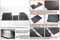 Renault Trafic 2015↗ гг. Резиновые коврики (3 шт, Stingray) Premium - без запаха резины