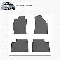 Chevrolet Spark 2004-2009 гг. Резиновые коврики (4 шт, Stingray Premium) Premium, без запаха