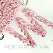 Кружево х/б.  1,5 см. Розовое