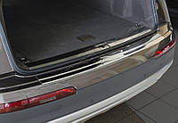 Audi Q7 2015↗ гг. Накладка на задний бампер (нерж.)