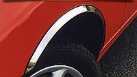 Fiat Fiorino/Qubo 2008 гг. Накладки на арки (4 шт, нерж) 1 боковая дверь, Полированная нержавейка
