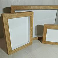 Рамка для 3D 10х10 см. (цвет - натуральный дуб)