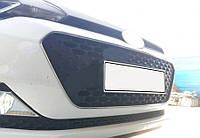 Hyundai I-20 2014-2018 гг. Окантовка решетки (2 шт, нерж)