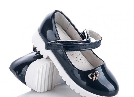 Туфлі підліток сині,туфлі дитячі шкільні на дівчинку BBT-F862-2
