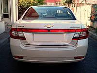 Chevrolet Epica 2006↗ гг. Хром полоска на багажник (нерж)
