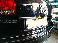 Volkswagen Touareg 2002-2010 гг. Хром планка над номером (нерж)