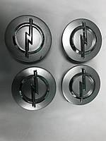 Колпачки в титановые диски Opel в заводские диски (4 шт) 60/55мм V4