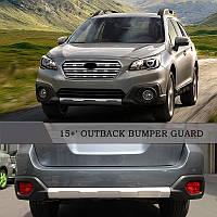 Subaru Outback 2015↗ гг. Передняя и задняя накладки V1 (2 шт)
