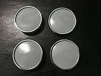 Колпачки в титановые диски Toyota 55мм V1 серые 3D (4 шт)