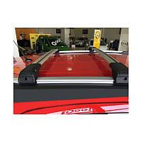 Kia Sorento UM 2015↗ гг. Поперечный багажник на интегрированые рейлинги под ключ (2 шт) Серый