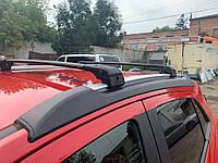 Opel Mokka 2012↗ гг. Поперечный багажник на интегрированые рейлинги под ключ (2 шт) Черный