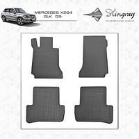 Mercedes C-Klass W204 Резиновые коврики (4 шт, Stingray Premium)
