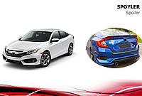 Honda Civic Sedan X (2016↗) Спойлер Niken V3 (под покраску)