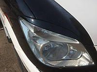Mercedes Sprinter 2006-2018 гг. Реснички Прямые (черные, ABS) Черный глянец