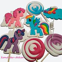 """Набор из сахарной пасты (мастики) для украшения кондитерских изделий """"Литл пони"""" (""""My Little Pony"""")"""