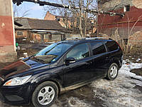 Ford Focus II 2008-2011 рр. алюмінієві Рейлінги (Caravan, хром)