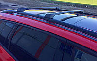 Fiat Panda 2003-2011 гг. Перемычки на рейлинги без ключа (2 шт) Серый