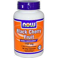 Черная вишня, экстракт (Black Cherry), NOW Foods, от подагры и артрита: 90 капсул. Сделано в США.