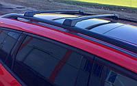 Hyundai Santa Fe 1 2000-2006 гг. Перемычки на рейлинги без ключа (2 шт) Серый