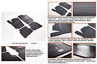 Volkswagen Polo 2017↗︎ гг. Резиновые коврики (4 шт, Stingray Premium)