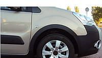 Peugeot Partner Tepee 2008-2018 гг. Накладки на арки (4 шт, черные) 1 боковая дверь, Пластик