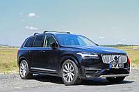 Volvo XC60 2017↗ гг. Поперечины на рейлинги под ключ (2 шт) Черные