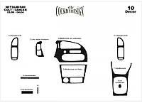 Mitsubishi Colt 1996-2004 рр. Накладки на панель Карбон