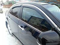 Ford Focus IV 2018↗ гг. Ветровики с хромом (4 шт, Niken)