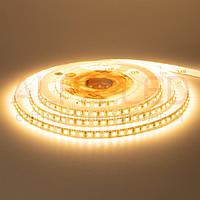 5м Світлодіодна LED стрічка 12v Premium 120smd 2835 Тепла біла, негерметична