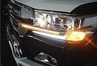 Toyota LC 200 Решетка LED -2021 реснички LED (2016-2021)