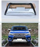 Toyota Hilux 2015↗ гг. Передняя накладка V1 (ABS)