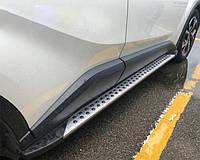 Toyota C-HR Боковые подножки Оригинал V3 (2 шт, алюм.)