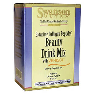 Swanson Ultra Beauty Drink Mix with Verisol - Natural Green Apple Flavor Коллаген в стиках 2,5 гр 30 шт