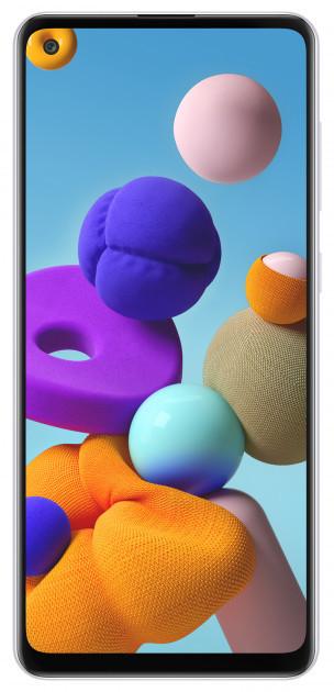 """Samsung SM-A217F Galaxy A21S DS White 6,5"""" 3-32Gb 5000мач Type-c, квад камера смартфон самсунг а21с"""