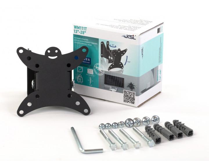 Кронштейн KSL для ТВ наклонно-поворотный 13-28 WM111T