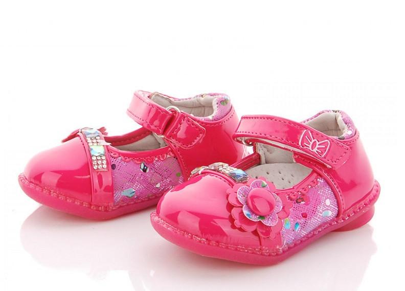Туфлі дитячі рожеві,туфлі на дівчинку BBT-F28-1