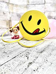 Женская сумка круглая (Merry Smiley) Цвет Желтый (17x17x3 cm.)