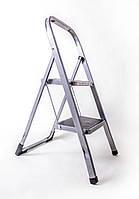Стремянка 2-х ступенчатая стальная с прорезиненными ступенями